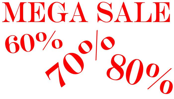 Mega Sale - tot 80% korting